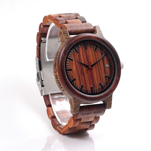 BOBO BIRD marque M17 tout en bois montre hommes décontracté luxe bracelet en bois montres cadeaux montre reloj masculino