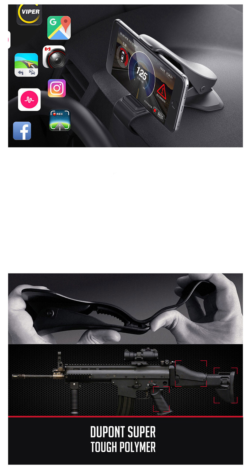 Universal Car Phone Holder Dashboard Mount Cradle Cellphone Clip GPS Bracket Mobile Phone Holder Stand for Phone in Car