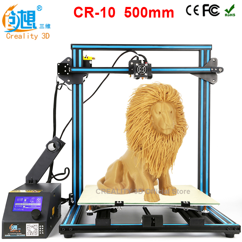 CREALITY 3D CR-10 3D printer I3 Mega full metal frame colorful industrial grade high precision affordable 3d print 2017 hot sale 3d printer cr 9 full assembled closed noiseless 3 d printing 3d with filament 8g sd card tools creality 3d