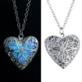 Hollow Glow Necklace Best Selling Supplier Wholesale Jewelry Silver Plated Heart Shaped Women Open Glowing Korean Necklace