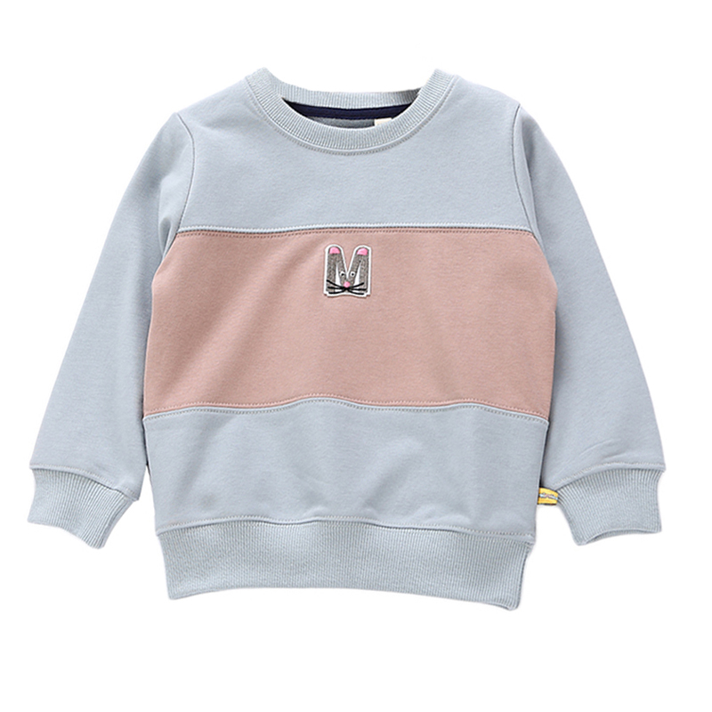 2018 High Quality Children Spring Jacket Baby Boys Terry Cotton Letter Design Pullovers Toddlers Kids Fashion Patchwork Jumpers