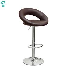 94500 Barneo N-84 экокожа кухонный стул барный стул высокий стул с мягким сиденьем на газ-лифте коричневый стул мебель для кухни кресло для нейл бара стул для броубара в Казахстан по России