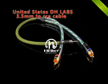 HI end cable audio line 3.5mm to rac Cable amplifier Signal Cable United States DH LABS silver supersonic cable