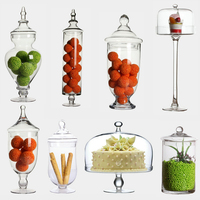 Transparent Glass dust proof dessert candy jars Glass bottles Crafts creative candy jars tea caddy Boxes storage jar