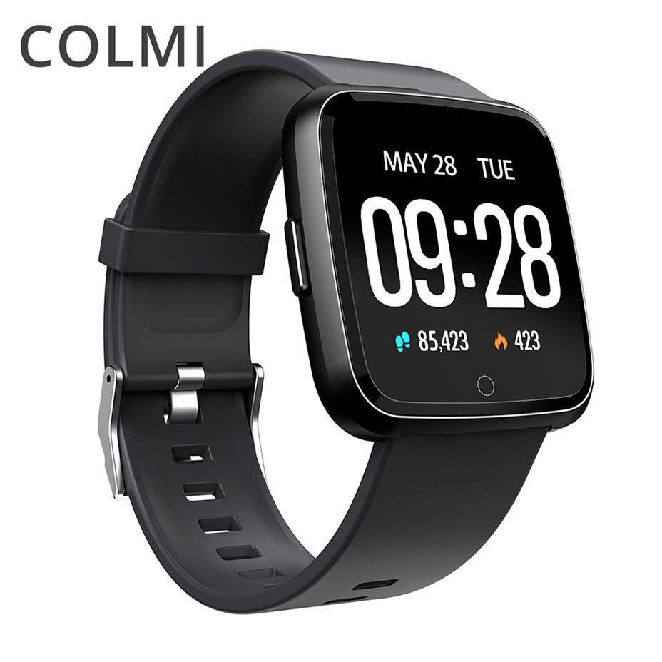 Reloj inteligente COLMI Smartwatch resistente al agua Dispositivo portátil Monitor de ritmo cardíaco presión arterial oxígeno Color reloj inteligente para Android IOS