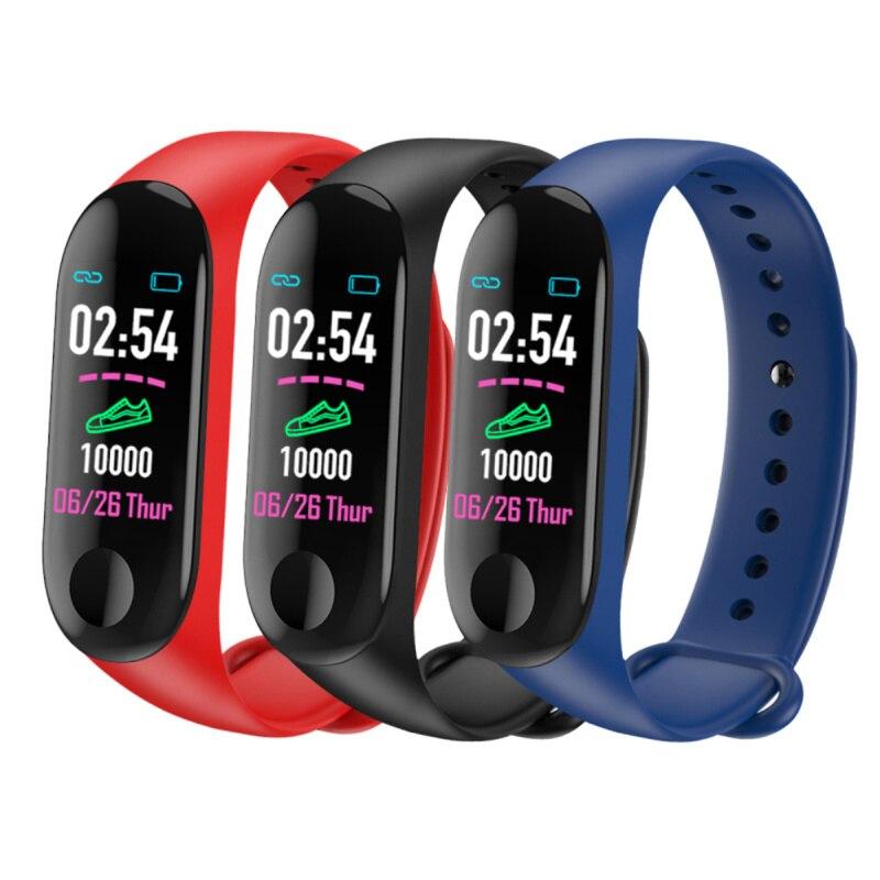 M3 Plus Color IPS ScreenSport Fitness Bracelet IP65 Waterproof Blood Pressure Activity Tracker Pedometer Men Women Step Counter