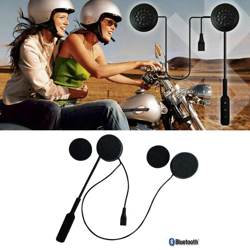 Wireless Motor Helmet Bluetooth Headset Motorcycle Helmet Earphone Dual Stereo Speaker Hands-free Music Headphone For MP3 MP4