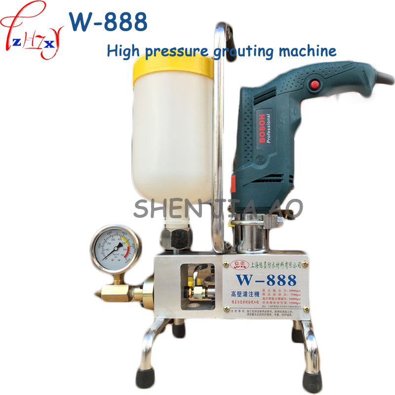 1pc W-888 High - pressure grouting machine polyurethane plugging grouting machine building chemical plugging grouting machine1pc W-888 High - pressure grouting machine polyurethane plugging grouting machine building chemical plugging grouting machine