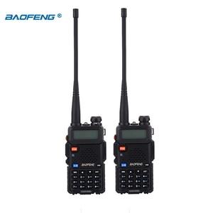Image 5 - BaoFeng walkie talkie UV 5R 2 teile/los two way radio baofeng uv5r 128CH 5W VHF UHF 136 174Mhz & 400 520Mhz