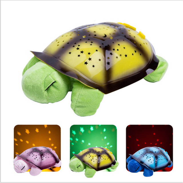 Musical Turtle Led Night Light Sky Star Novelty Lamp Children Toy Song Music Lighting Baby Sleep Light In Pink Yellow Green Blue