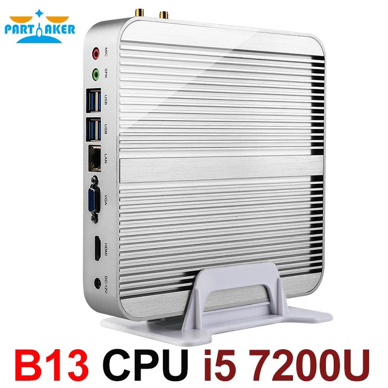 [7th Gen Intel Core i5 7200U] Inctel Date Kaby Lac Win10 Mini PC Max 3.1 ghz Sans Ventilateur Nuc HTPC Intel HD Graphics 620 4 k TV Box