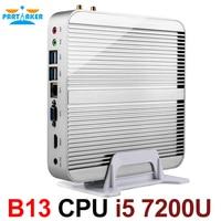 [7th Gen Intel Core i5 7200U] Inctel новые Kaby Lake Win10 Mini PC Макс 3,1 ГГц безвентиляторный Nuc HTPC Intel HD Графика 620 4 К ТВ коробка