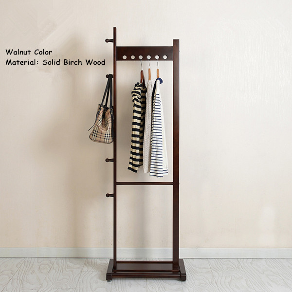 Modern Coat Racks Stand Birch Wood 55x175cm Living Room Furniture Portable Bedroom Clothes/Hat Hanger Standing Wooden Coat Rack