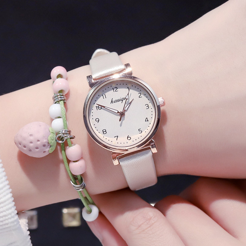 2019 New Fashion Women Watches Arabic Numerals Leather Wrist Watch Young Girl Watch Clock Dress Watch Reloj Mujer Gift Free Ship