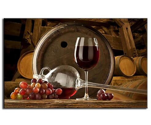 2017 Unframed Prints Art Print Canvas Grape And Wine Picture Home Art Wall Decor China