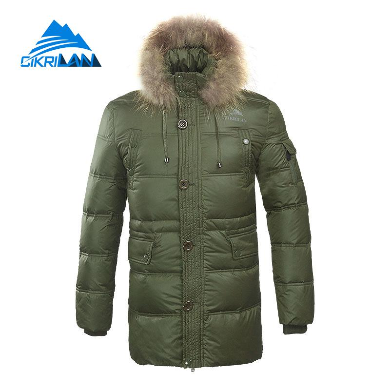 Mens Long Winter Warm Windstopper Outdoor Hiking Duck Down Jacket Men Thermal Skiing Fishing Caping Down Coat Climbing Jackets цены онлайн