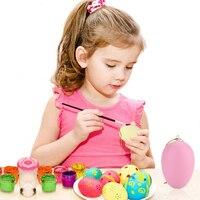20 PCS Easter Toy Eggs DIY Artificial Easter Egg with Egg Cup & 4PCS Paint Pens & 4PCS Sludge Toys