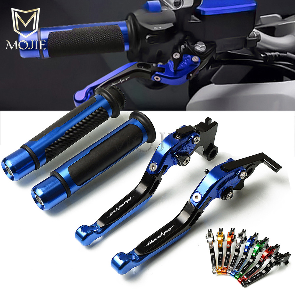 Motorcycle CNC Adjustable Foldable Brake Clutch Lever Handle Grips Set For Honda CB900F Hornet CB919 CB 919 900 F 2002-2007Motorcycle CNC Adjustable Foldable Brake Clutch Lever Handle Grips Set For Honda CB900F Hornet CB919 CB 919 900 F 2002-2007