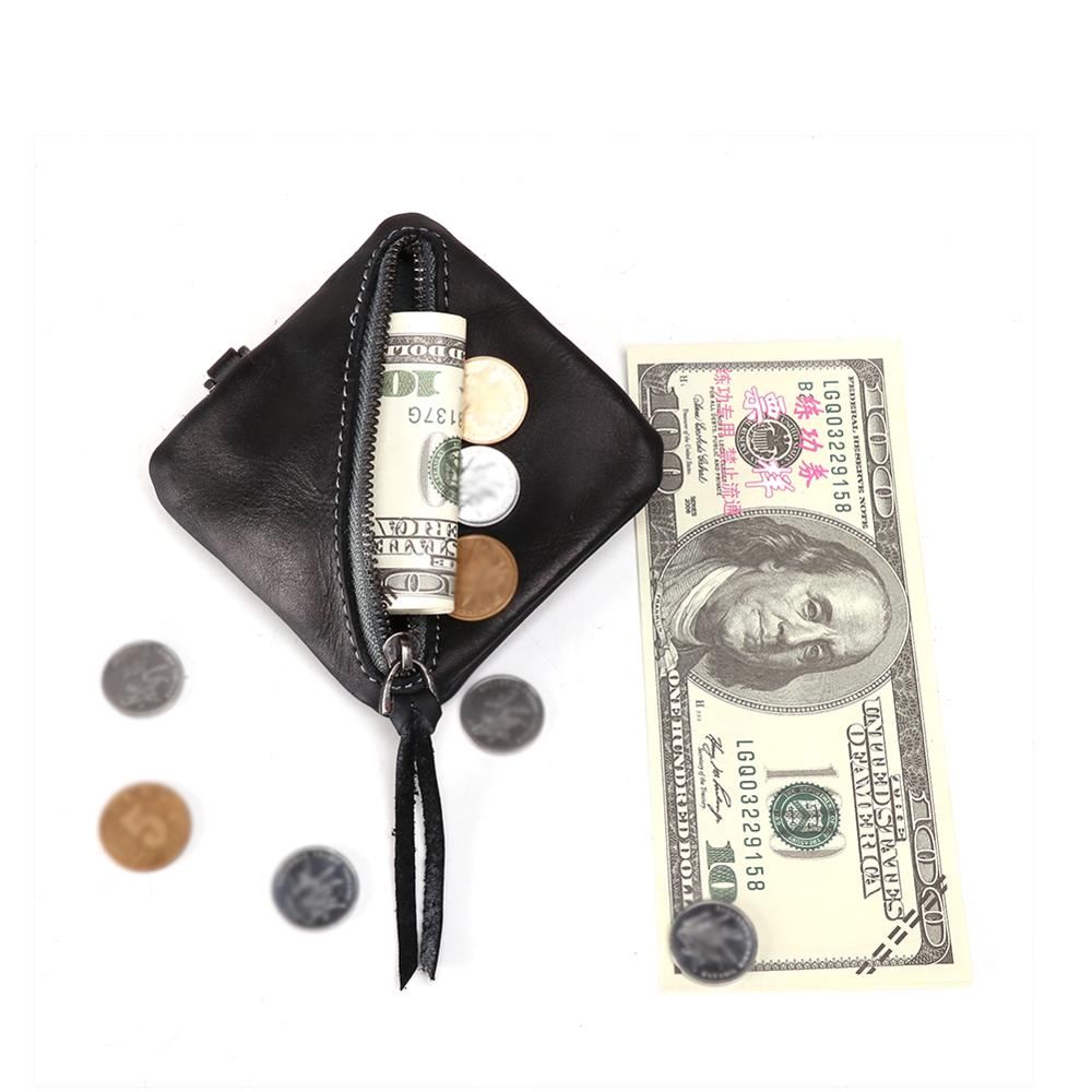 9 9 HOT Genuine Leather Coin Purse Women Small Wallet Change Purses Mini Zipper Money Bags Children 39 s Pocket Wallets Key Holder in Coin Purses from Luggage amp Bags
