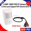 HD H.264 Câmera de 2MP 1080 P IP com PoE Porta PIR Estilo Onvif P2P Plug and Play Rede de Câmeras de Segurança