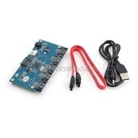 SATA Adapter Card 1 To 5 Port Converter SATA Port Multiplier Riser Card Hub