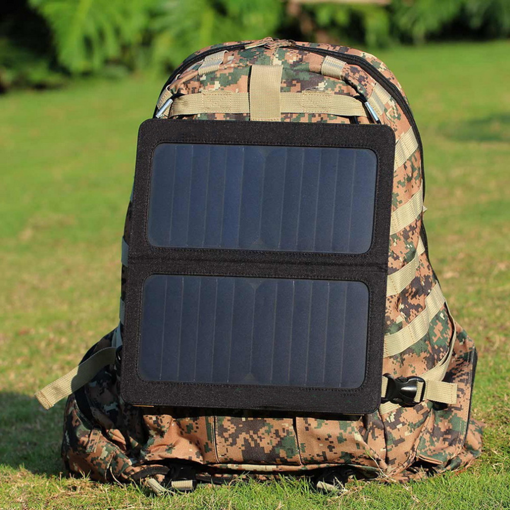 Portable Foldable Dual USB Port Solar Battery Charger bag For Phone Best Seller