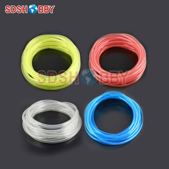 6*3mm 200 Meter Fuel Line/ Fuel Pipe for Gas Engine/ Nitro Engine -Yellow/Transparent/ Blue/Red Color 6617 fuel gas line pipe hose for poulan craftsman weedeater 530069216 trimmer chainsaw blower yellow fuel line 2 5mm x 10m