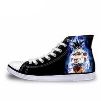 NOISYDESIGNS Горячая животных Dragon Ball печати высокая парусиновая обувь для хип-хопа Для мужчин вулканическая обувь Прохладный Супер Saiyan Сын Gokou Ве...