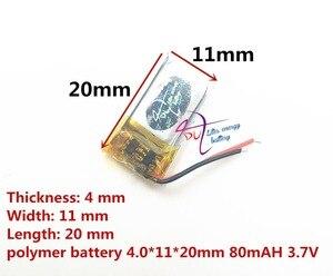Image 2 - ליטר אנרגיה סוללה Bluetooth אוזניות 401120 401020 401220 80 mAh מיני חכם צמיד נטענת 3.7 V פולימר ליתיום סוללה