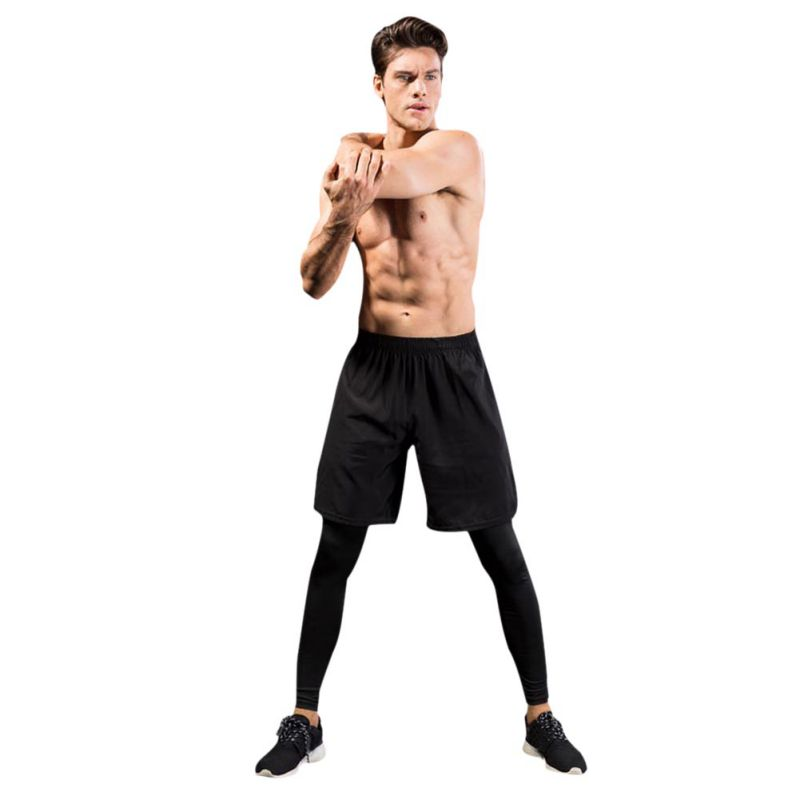 Running Tights Sport Leggings Man Fitness Compression Pants Exercise Quick-Drying Trousers Male Run quick-drying trousers