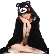 Lovely Cartoon Kumamon shawl Japanese Mascot Cute home Air conditioning blanket Kumamoto-ken Japan's most famous Bear GH187