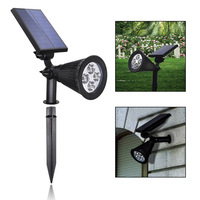 Solar Power 4LED YH0502C RGB Chromatic Solar Power Garden Lamp Spot Light Outdoor Lawn Landscape Free