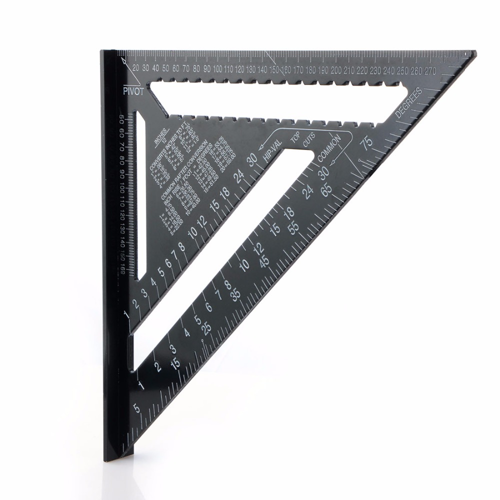 12 Inch Black Triangle Ruler For Woodworking Measuring Tool Quick Read Square Layout Tool цена