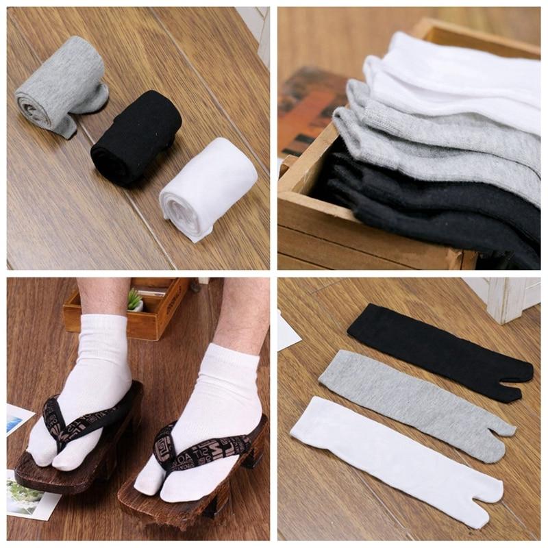 3pairs/set Unisex Japanese Kimono Socks Men Flip Flop Sandal Split Toe Socks Women Foot Finger Sock ZXY9242