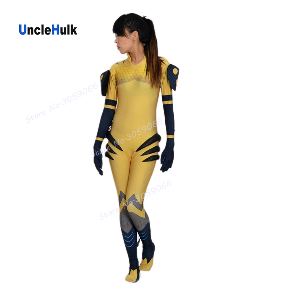 High Quality OW B.Va (D.VA with Yellow Bee Suit) Printed Spandex Lycra Costume | UncleHulk