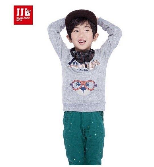 Дети мальчики малышей животные с длинным рукавом собака милые Sweatershirts размер 4 - 11 сзт