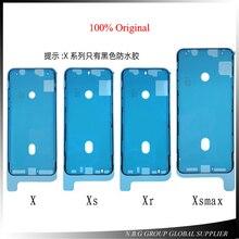 10 adet/grup Orijinal su geçirmez etiket iPhone X XS XR XS MAX LCD Ekran Bant 3 M Yapıştırıcı Tutkal Onarım Parçaları