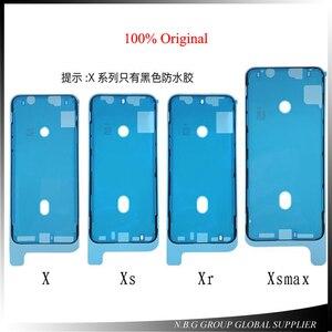 Image 1 - 10 teile/los Original Wasserdichte Aufkleber Für iPhone X XS XR XS MAX LCD Bildschirm Band 3 mt Adhesive Kleber Reparatur teile