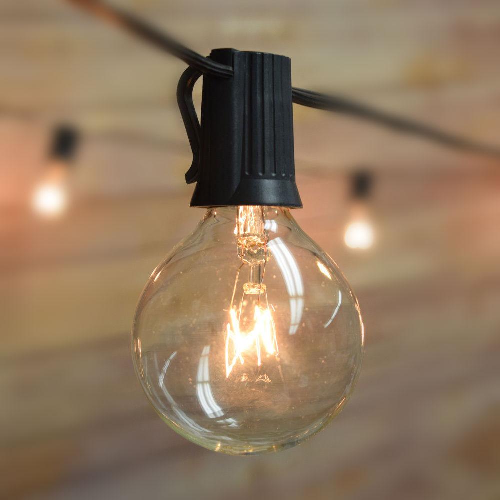 Luces de cadena de VNL G40 con 25 bulbos claros del globo de G40 - Iluminación de vacaciones - foto 2