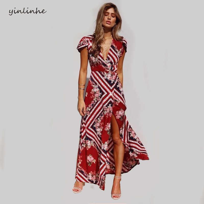 c235680319ebd Detail Feedback Questions about yinlinhe Long Maxi Summer Dress ...