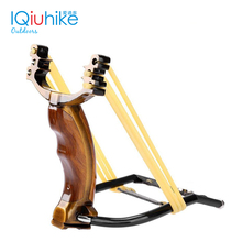 Slingshot Catapult Rubber-Band Powerful Outdoor Hunting with 2 Metal-Handle High-Quality
