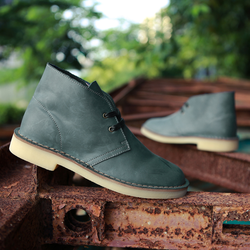 ФОТО 2016 Classic genuine leather tooling  crazy horse leather martin boots men fashion desert boots popular high top leather shoes