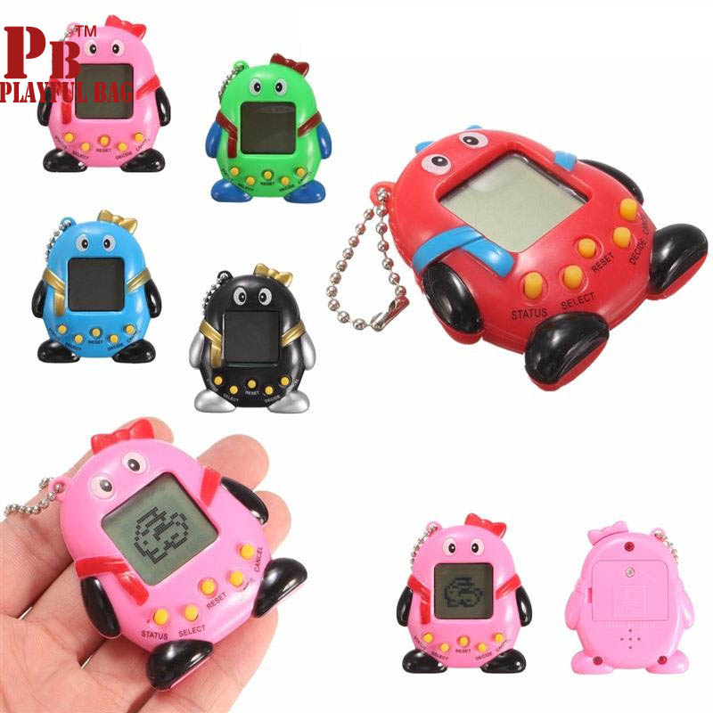 Hot ! 2018 Tamagochi Electronic Pets Toys Nostalgic 168 Pets In One Virtual Cyber Pet Toy Penguins Toy Recreational Machines