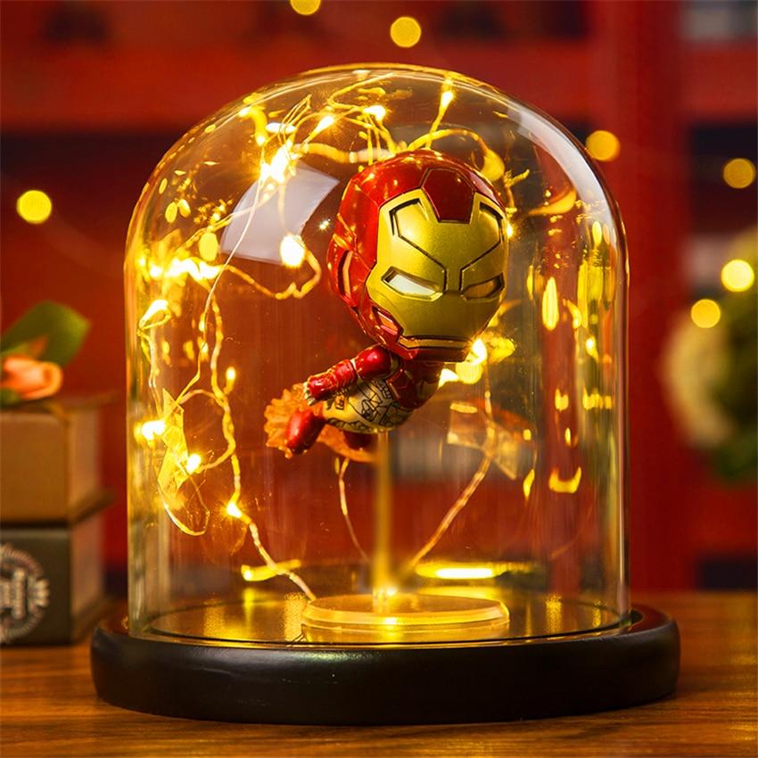 Hero Spider Table Lamp Marvel Super Iron Man Hulk Deadpool LED Desk Lamp Night Light Multicolor Christmas Decor Kids Gift Toys in LED Night Lights from Lights Lighting