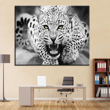 Fierce Black and White Lion Picture By Numbers DIY Animal Painting Kits Hand paited On Linen Canvas Modern Home Decor Wall Art