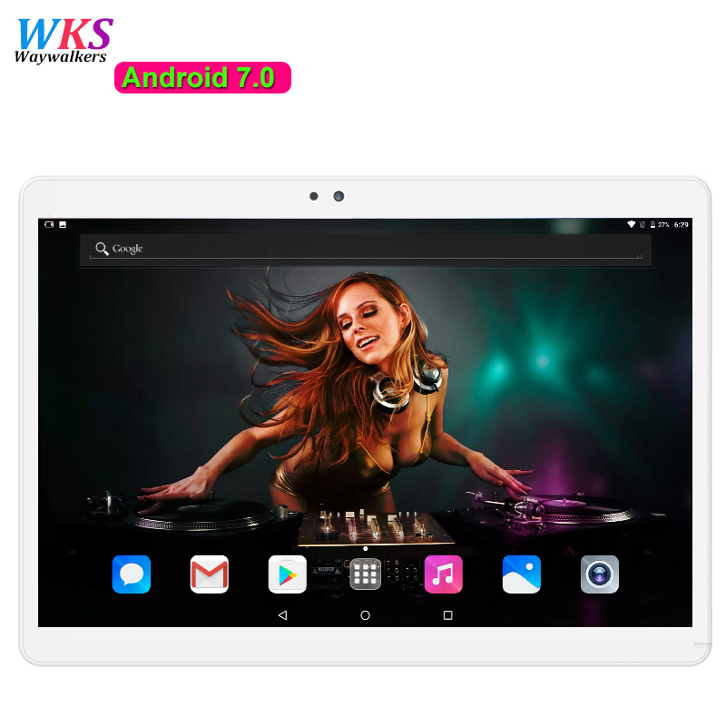 DHL free shipping 10 inch 4G LTE tablet PC 10 core Android7.0 RAM 4GB ROM 64GB Dual Cameras GPS 8.0MP 1920*1200 IPS tablets+Gift