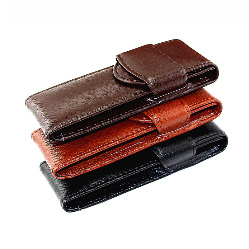 Fountain Pen / Roller Pen Pencil Case Pen Bag Real Leather Quality Washed Cowhide Black /Coffee Pen Pouch / Holder