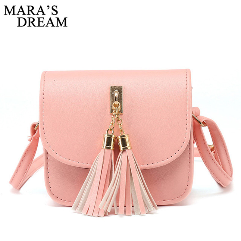 Mara's Dream Fashion Small Chains Bag Women Candy Color Tassel Messenger Bags Female Handbag Shoulder Bag Bolsa Feminina 2017 2017 fashion small bag candy color tassel women messenger bags female handbag shoulder bag women clutch bags bolsa feminina