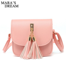 Mara s Dream Fashion Small Chains Bag Women Candy Color Tassel Messenger Bags Female Handbag Shoulder