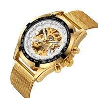 2019 NEW Watch Men Skeleton Automatic Mechanical Watch Gold Skeleton Vintage Man Watch Mens MG.ORKINA Watch Top Brand Luxury